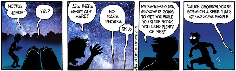 Hubris- Yogi's no threat.