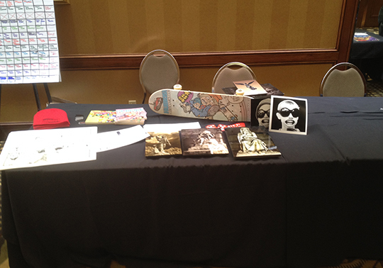 Table on Pro Row at MidSouthCon a while back