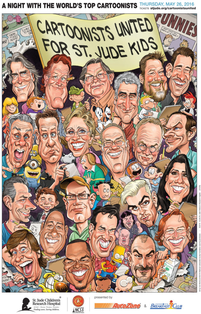cartoonists united poster